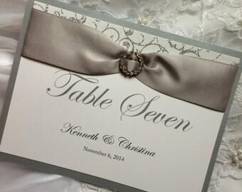 Chic, Elegant, Wedding Table Number Cards