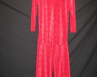 2pcs red pant set style -1103