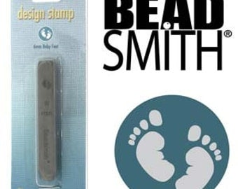 BeadSmith 6mm Baby Feet Metal Stamp (LPSD96)
