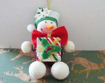 Christmas Snowman Ornament,  Christmas Tree Ornament, Snowman Gift, Snowman Present, Snowman Ornament, Christmas Ornament