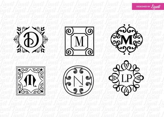 modern wedding monogram