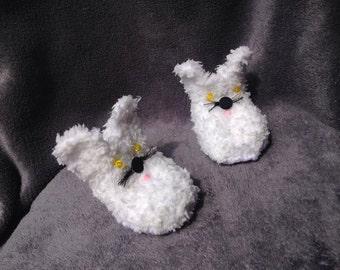 Slipper plush baby / baby slippers / knitted slippers