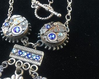 Steampunk cameo necklace