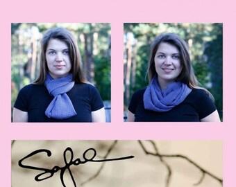Infinity Scarf for women Purple calmness