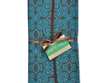 Teal Cotton Napkins - Set of four