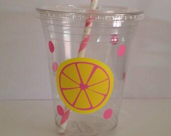 Pink lemonade party cups