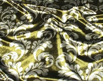 Fabric velvet green ornament upholstery 25.000 Martindale