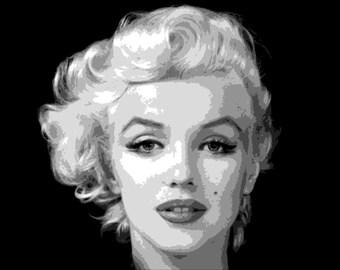 Marilyn Monroe Pop Art print *** downloadable ***