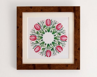 Tulips. Square print with mount (10x10 inches).