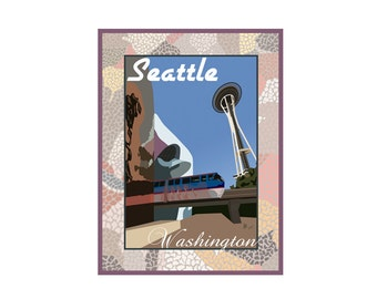 Giclee Print: Seattle Washington