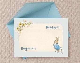 Peter Rabbit Beatrix Potter Kids Thank You Note Cards