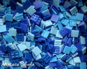 Vitreous Tiles - 20x20mm Marine Blue x 150pc