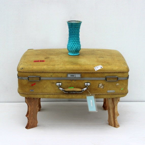 Items Similar To Vintage Suitcase Coffee Table Ottoman On Etsy
