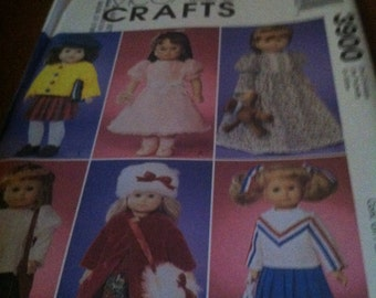 McCalls craft pattern 3900 doll clothes for 18 inch doll NEW