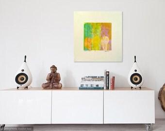 Pastel multicolor Monoprint