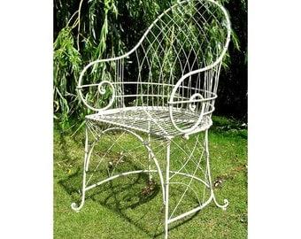 The Claire Wrought iron garden armchair