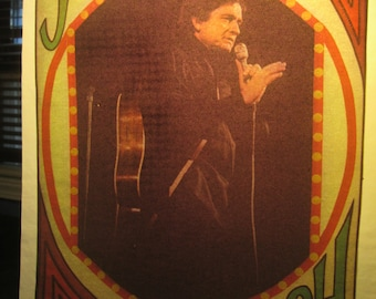 Johnny Cash iron on decal.