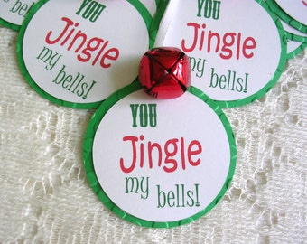 Christmas Tags - Jingle My Bells Christmas Gift Tags - Holiday Tags Set of 10 - Holiday Package Decorations