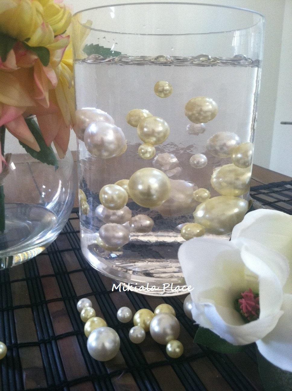 Elegant Floating Jumbo Pearls Vase Filler Jumbo Pearls