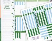 December Classic PInstripe Coordinating Planner Sticker Half Kit // Erin Condren Planner Stickers