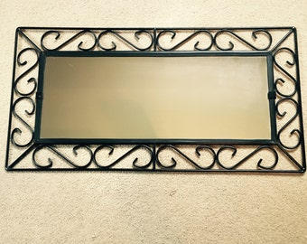 wrought iron mirror for custom etching
