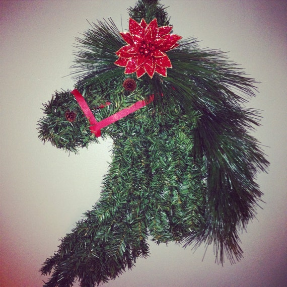 Christmas Decorations For Your Horse : Horse wreath equestrian christmas