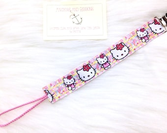 Cute Hello Kitty Universal Pacifier Clip - to keep that binky safe!