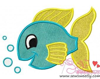 Pretty Fish Applique Design.
