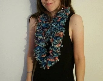 Infinity Scarf- Blue/Purple/Pink