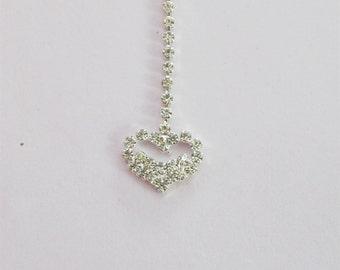 Silver Heart Tikka/Tika/ Indian Matha Tikka/ Indian Headpiece/Headpiece Jewelry/Mexican Tikka/Small Tikka/Headpiece tikka Jewelry/Teeka