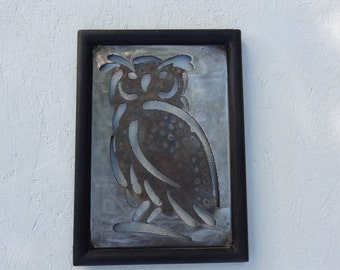 Owl - Metal Owl - Wall Art - Wall Decor-