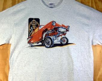 Chevy '57 Gasser Bel Air T-shirt 100% Cotton S-XXXL