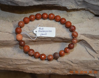 Natural Red Malachite Healing Stone Stretch Bracelet
