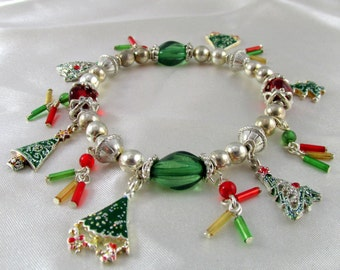 Vintage Christmas Charm Bracelet