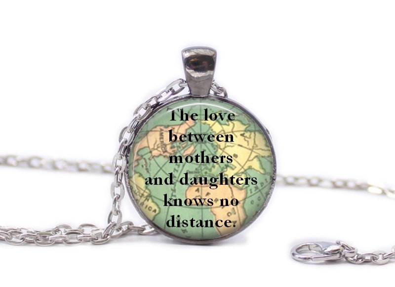 Mother and daughter necklace map jewelry travel necklace world mother and daughter necklace map jewelry travel necklace world map necklace travel quote gumiabroncs Gallery