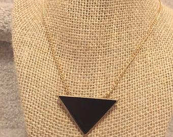 Black Pyramid Necklace