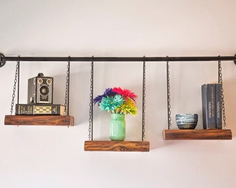 Industrial-Reclaimed Pine Shelving Unit