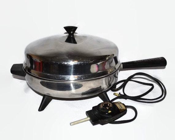 Electric Skillet Frying Pan Vintage Faberware 310 A 12