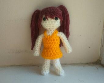 Rise Kujikawa crochet amigurumi plushie inspired from Persona 4