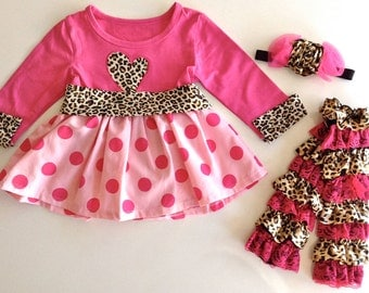 Cheetah Diva Dress 6-12 months