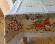 Retro / Vintage Border Printed Tablecloth / Fabric NEW