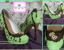 ice cream shoes Mint Chocolate Chip Customized