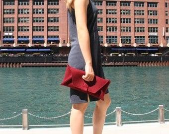 Rectangular Clutch - Handmade Geometric Wool Felt Bag - SoftForm Bags - Crosstree Seed Products