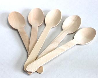 Wooden spoons, Eco Friendly, birch wood, weddings, baby shower, bridal shower, birthday party, bath salt spoon, sugar scrub spoon