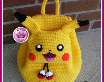 Pikachu Crochet Backpack