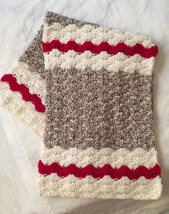 Crochet Baby Blanket Sock Monkey Blanket Sock by ...