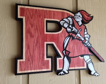 Large Wooden college logo