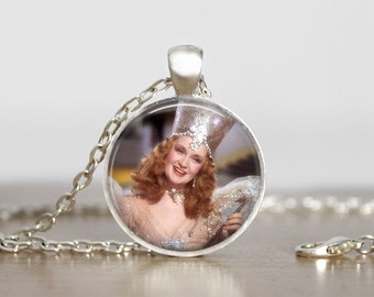 Glinda, the Good Witch of the South. Wizard of Oz. Fandom. Gift. Comes as a necklace or keychain.