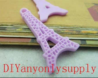 20pcs 21x42mm(4 Different color)Resin Eiffel Tower charms findings