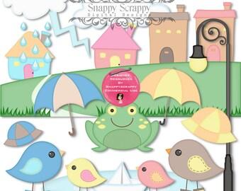 Bird Clipart, Digital Scrapbooking, Bird Clipart Scrap Kit.  CU4Cu